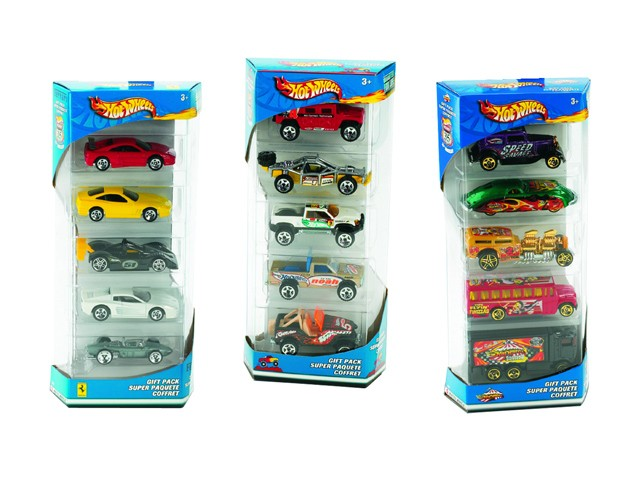 Mattel Hot Wheels. Подарочный набор из пяти машинок - Hot Wheels, артикул: 155083