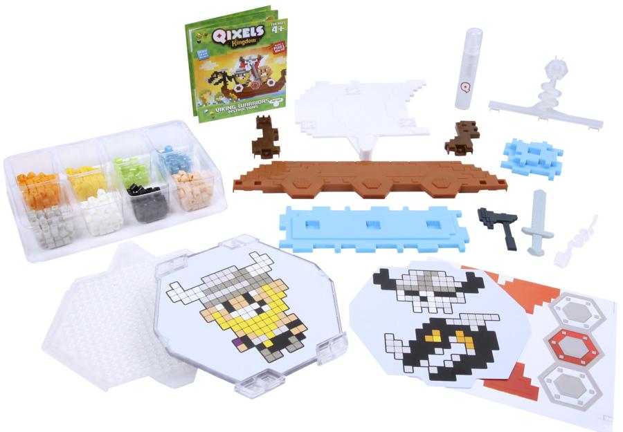 Купить Набор для творчества Qixels - Королевство. Викинги, MOOSE ENTERPRISE
