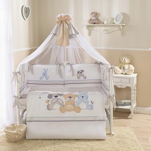 Комплект постельного белья для детей Perina™ - Венеция, бежевыйДетское постельное белье<br>Комплект постельного белья для детей Perina™ - Венеция, бежевый<br>