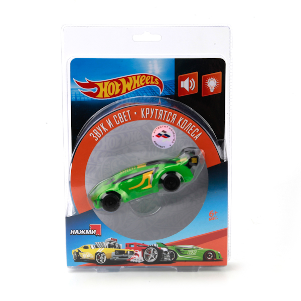 Машинка Hot Wheels, свет и звук, c колесамиМашинки для малышей<br>Машинка Hot Wheels, свет и звук, c колесами<br>