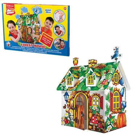 Домик игровой для раскрашивания - Лесной Дом/Forest houseКукольные домики<br>Домик игровой для раскрашивания - Лесной Дом/Forest house<br>