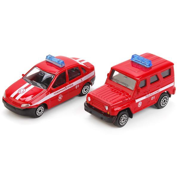 Набор - Пожарная часть с 2-мя металлическими машинками Уаз и Лада, 7,5 смПожарная техника, машины<br>Набор - Пожарная часть с 2-мя металлическими машинками Уаз и Лада, 7,5 см<br>