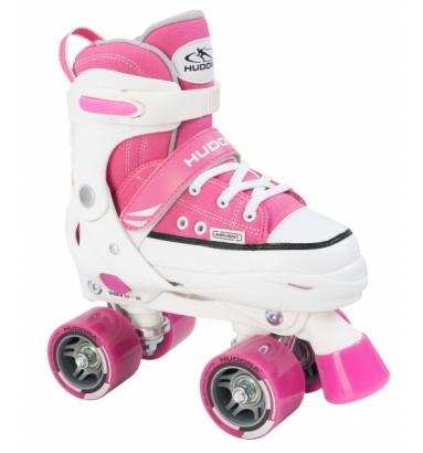 Купить Раздвижные ролики-квады Hudora - Roller Skate, розовый, 28-31