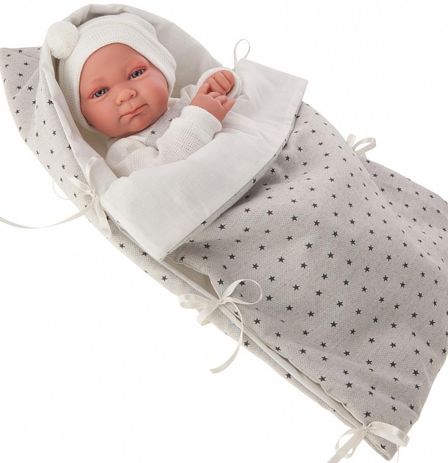 Кукла-младенец Габриэль в белом, 42 смКуклы Антонио Хуан (Antonio Juan Munecas)<br>Кукла-младенец Габриэль в белом, 42 см<br>
