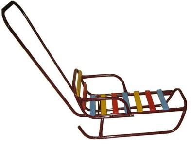 Детские санки трансформер с изменением положения поручня и спинкой - Зимние товары, артикул: 22779