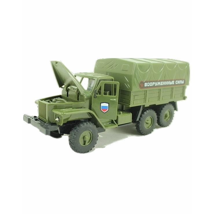 Купить Инерционный военный грузовик - Урал - Вооруженные силы, световые и звуковые эффекты, Yako Toys