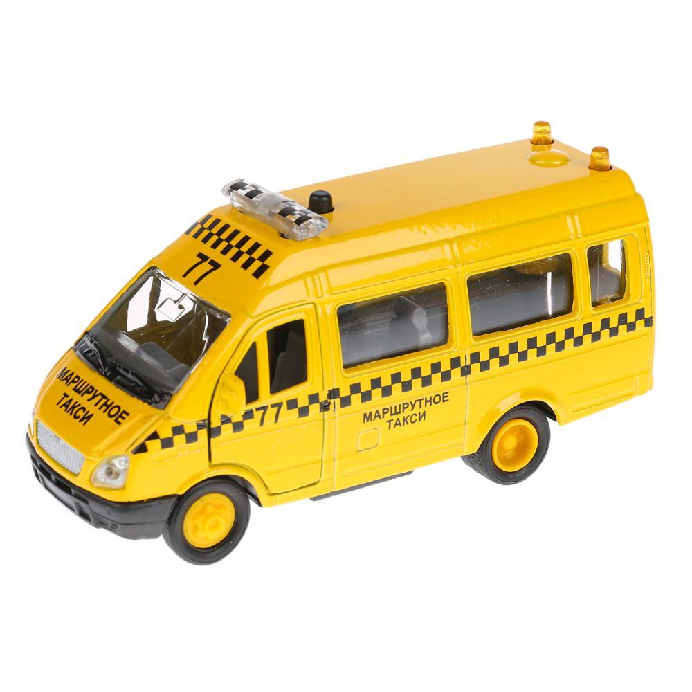 Купить Инерционная металлическая машина Газель Такси свет, звук 1:43, Технопарк