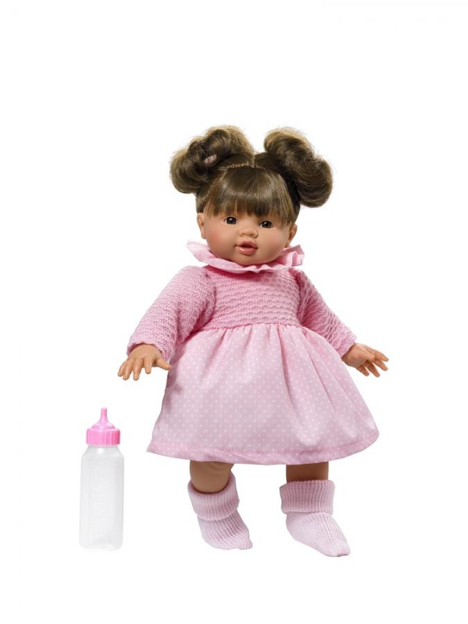 Кукла Эмма в розовом платье, 36 см.Куклы ASI (Испания)<br>Кукла Эмма в розовом платье, 36 см.<br>