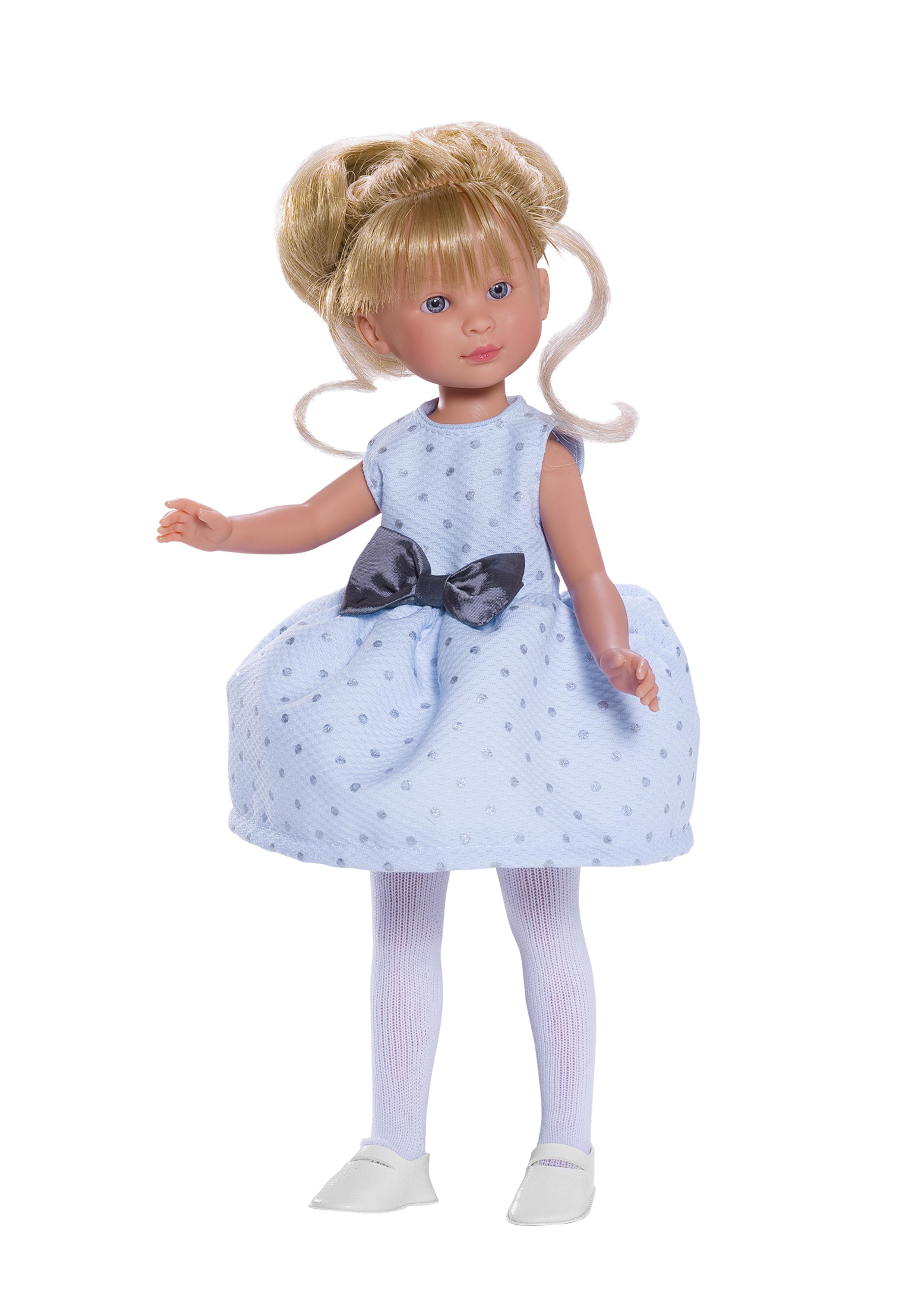 Кукла Селия в голубом платье, 30 см.Куклы ASI (Испания)<br>Кукла Селия в голубом платье, 30 см.<br>
