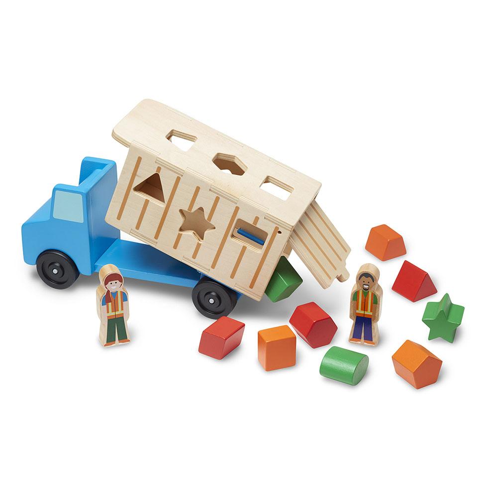 Классические игрушки. Самосвал сортировщик - Деревянные игрушки, артикул: 164359