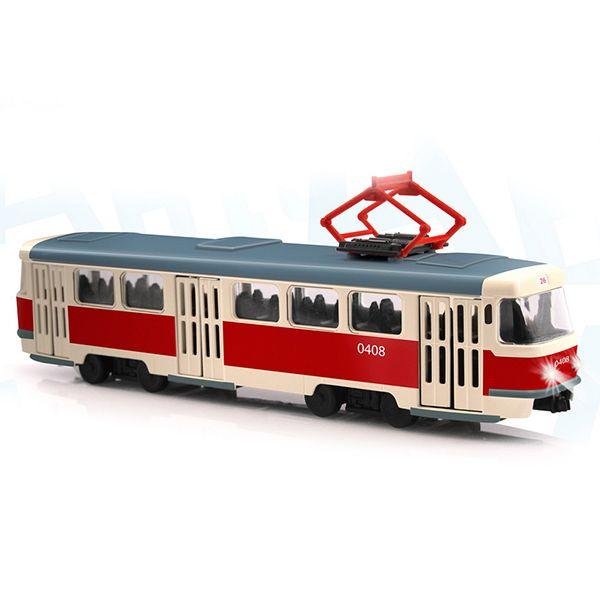 Трамвай со световыми и звуковыми эффектами фото