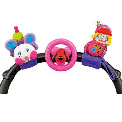 Набор развивающих игрушек для коляски: гусеничка, руль, телефон - Развивающая дуга. Игрушки на коляску и кроватку, артикул: 8622