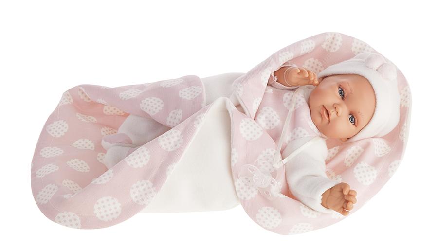 Кукла Марселина в розовом, озвученная, 29 см.Куклы Антонио Хуан (Antonio Juan Munecas)<br>Кукла Марселина в розовом, озвученная, 29 см.<br>