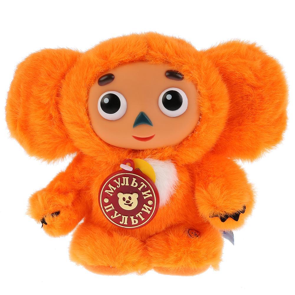 Купить Мягкая игрушка – Чебурашка с оранжевым мехом, озвученный русский чип, 14 см., Мульти-Пульти