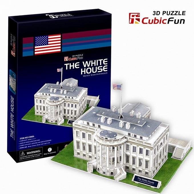 3D puzzles. Объёмный пазл Белый дом, ВашингтонПазлы объёмные 3D<br>3D puzzles. Объёмный пазл Белый дом, Вашингтон<br>