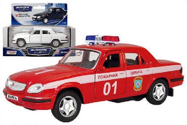 Машинка металлическая Газ-31105 Волга Пожарная охрана, 1:43Пожарная техника, машины<br>Машинка металлическая Газ-31105 Волга Пожарная охрана, 1:43<br>