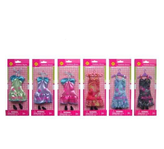 Набор - Вечерний наряд для куклы, 22,5 см, 6 видов