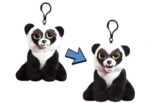 Мягкая игрушка Feisty Pets - Панда черно-белая, 11 см, с карабином по цене 783