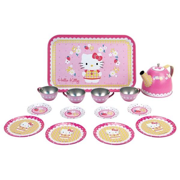 Набор металлической посудки, Hello Kitty, 14 предметовАксессуары и техника для детской кухни<br>Набор металлической посудки, Hello Kitty, 14 предметов<br>