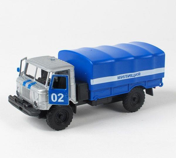 Металлическая инерционная машинка - Газ 66 Милиция/ПолицияПолицейские машины<br>Металлическая инерционная машинка - Газ 66 Милиция/Полиция<br>