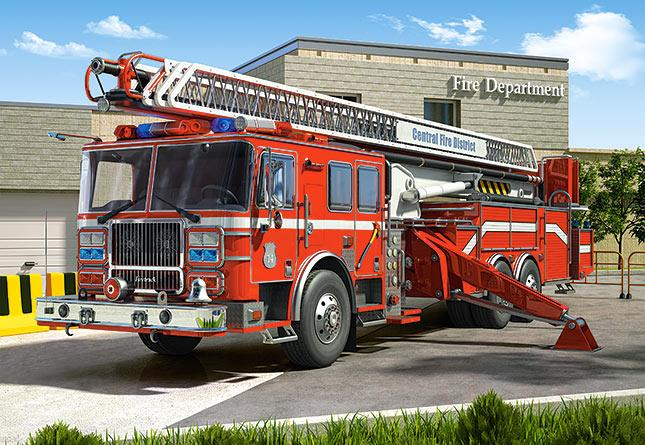 Пазл Пожарная машина, 260 элементов, Castorland  - купить со скидкой