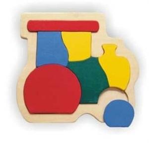 Контур, деревянная рамка - ПаровозРамки и паззлы<br>Контур, деревянная рамка - Паровоз<br>