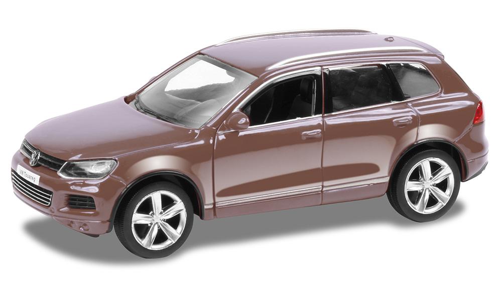 Купить Металлическая инерционная машина RMZ City - Volkswagen Touareg, 1:32, коричневый матовый
