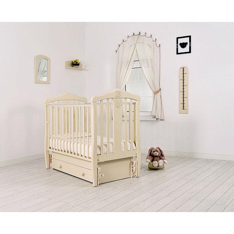 Купить Кровать детская Гандылян К-2002-28м Доминик маятник универсальный, слоновая кость, GANDYLYAN