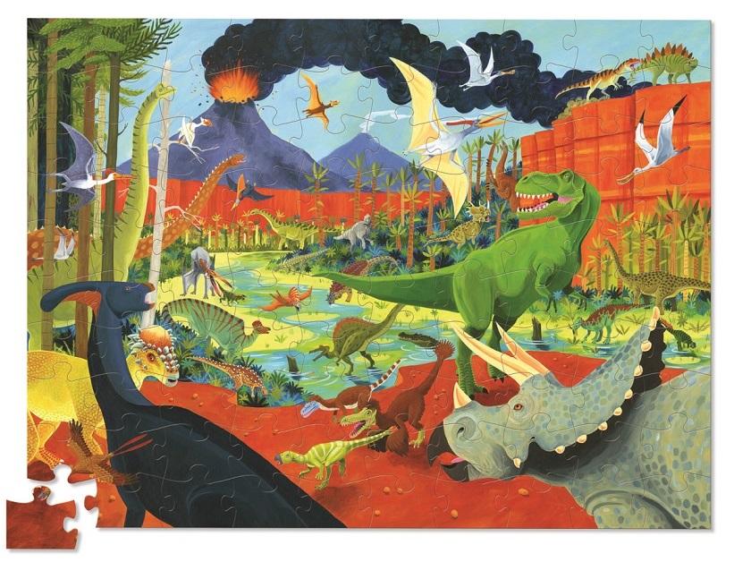 Купить Пазл – Динозавры из серии 36 Животных, 100 деталей, Crocodile Creek