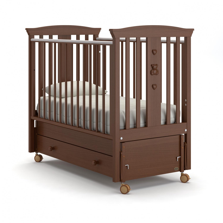 Купить Детская кровать Nuovita Fasto swing продольный, noce scuro/темный орех