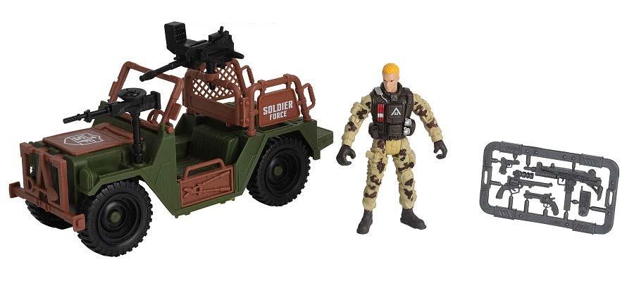 Купить Игровой набор - Солдат на внедорожнике, Chap Mei