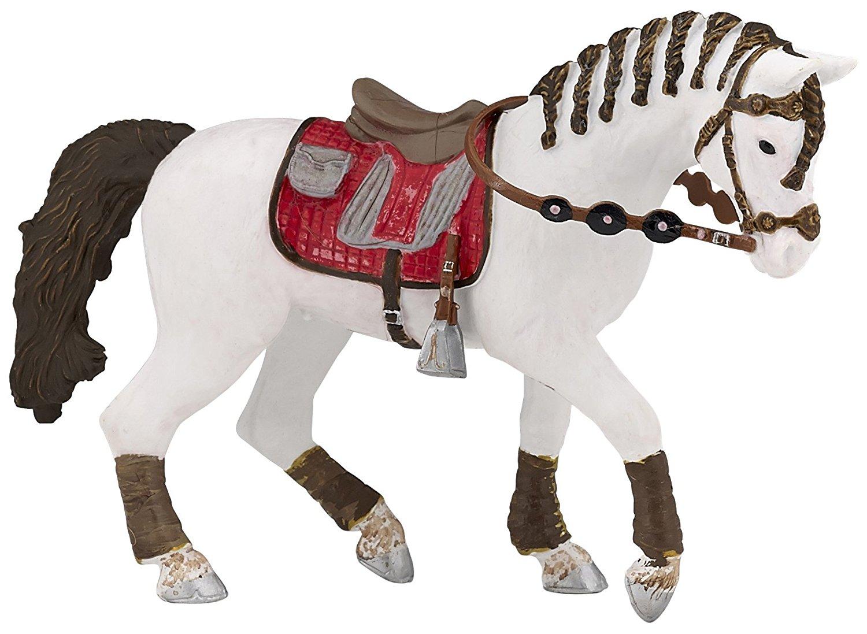 Белая лошадь с заплетенной гривой для езды верхомЛошади (Horse)<br>Белая лошадь с заплетенной гривой для езды верхом<br>