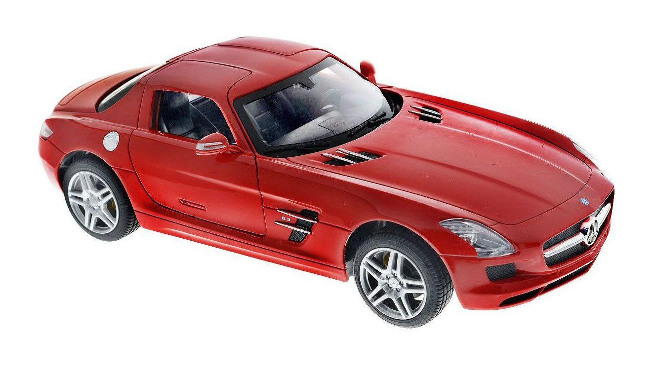 картинка Машина р/у Mercedes SLS AMG, 19 см, цвет красный, масштаб 1:24, 27MHZ от магазина Bebikam.ru