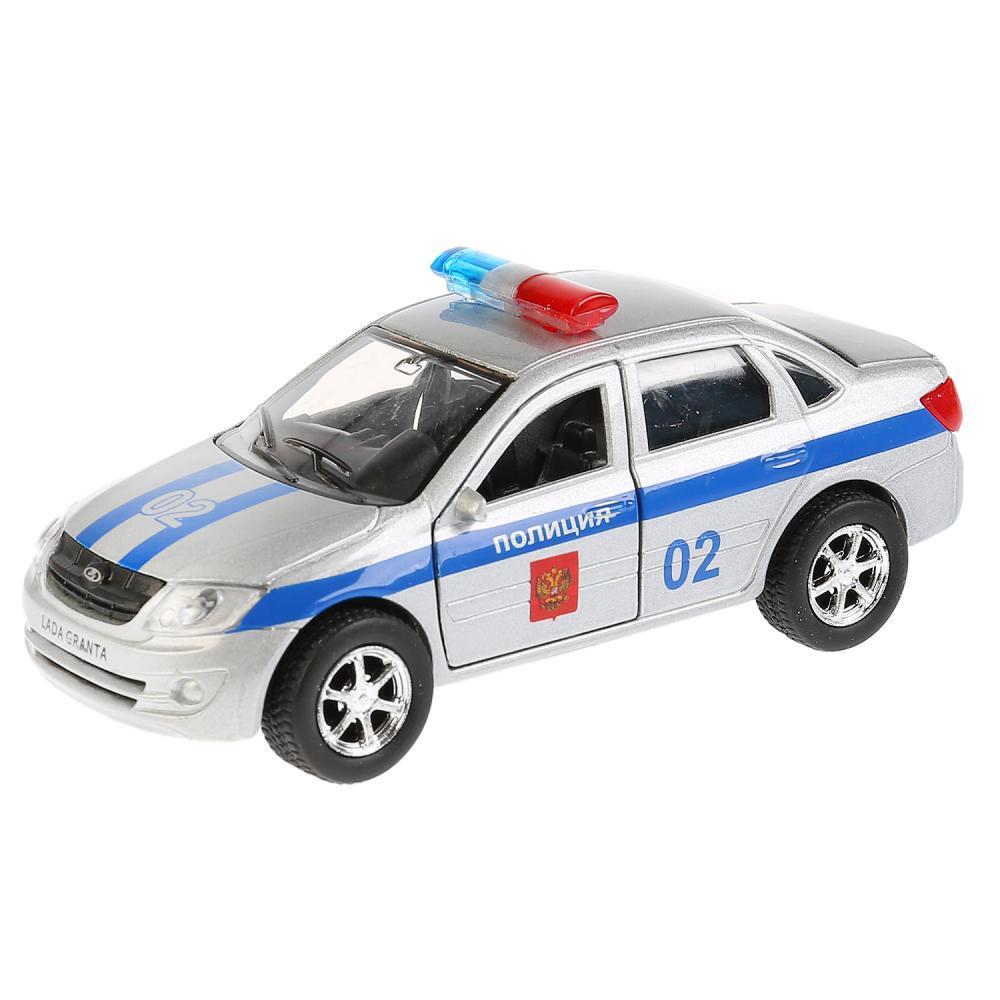 Купить Машина инерционная – Автоваз Лада Гранта Полиция, 12 см, открываются двери, Технопарк