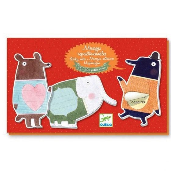 Купить Набор стикеров для заметок - Забавные животные, 6 видов, Djeco