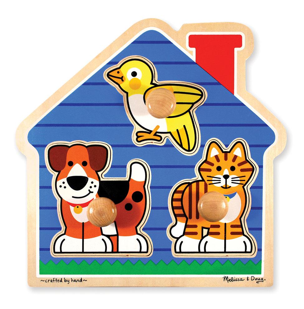 Мои первые пазлы - Домик с животными, 3 элемента