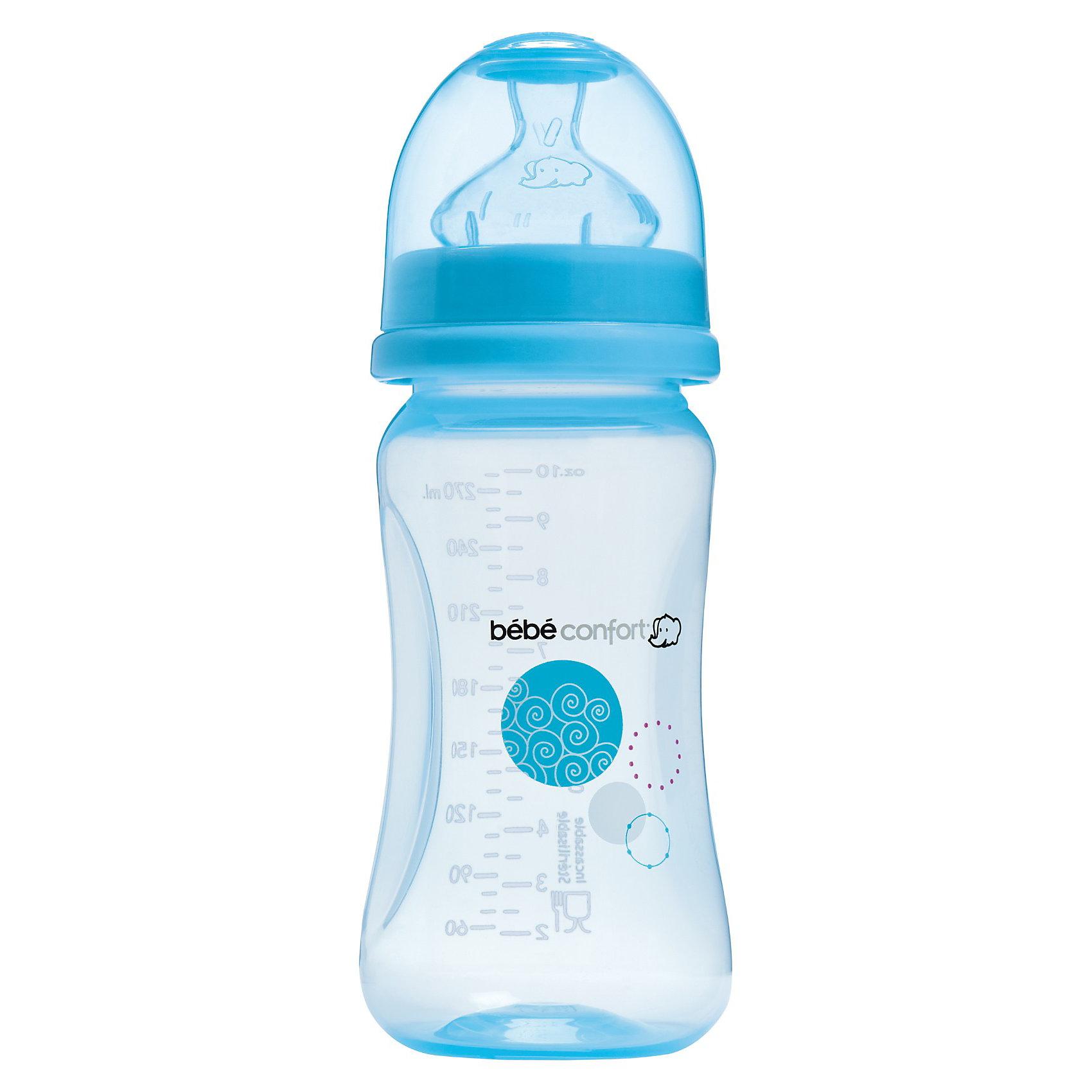 Бутылочка для кормления Maternity, 270 мл, голубаяБутылочки<br>Бутылочка для кормления Maternity, 270 мл, голубая<br>