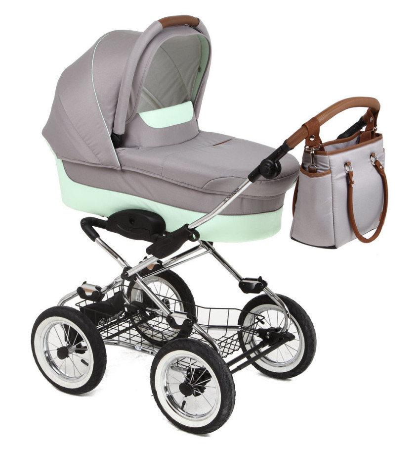 Коляска классическая Navington Galeon, колеса 12, цвет BaliДетские коляски-люльки<br>Коляска классическая Navington Galeon, колеса 12, цвет Bali<br>
