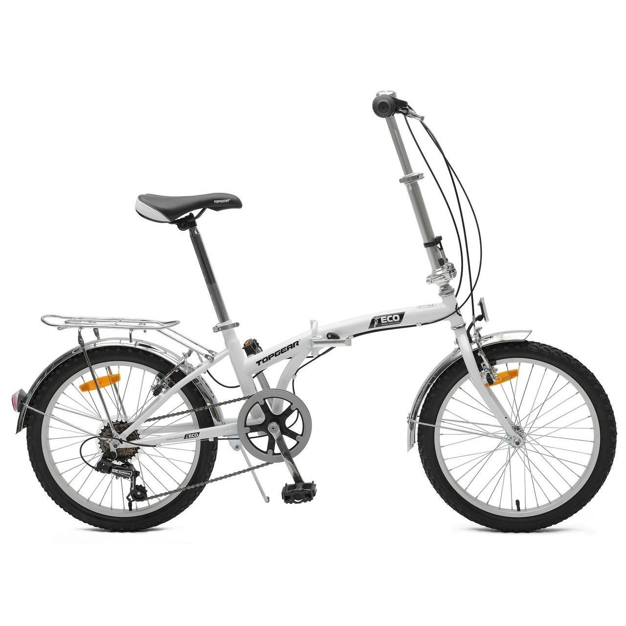 Купить Складной двухколесный велосипед Eco, белый, Topgear