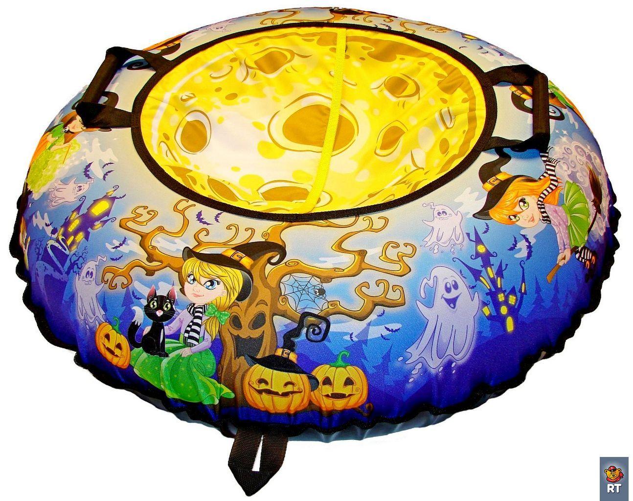 Санки надувные Тюбинг Эксклюзив – Ведьмочки, автокамера, диаметр 100 см.