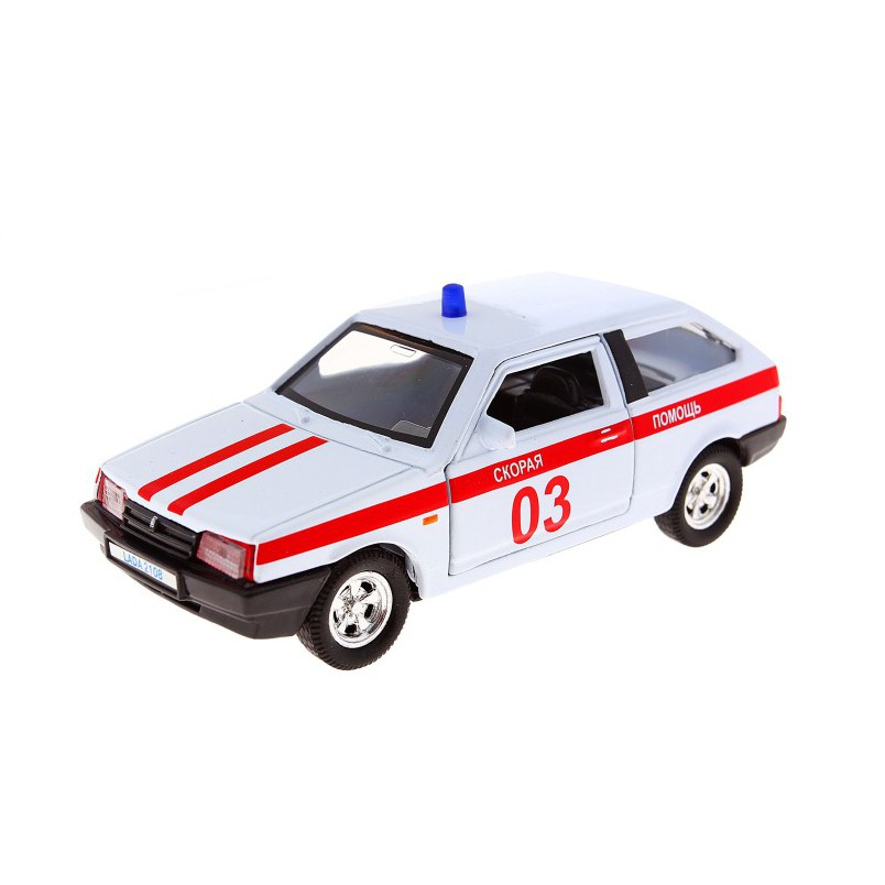 Машинка металлическая Lada 2108 Скорая помощь, 1:36LADA<br>Машинка металлическая Lada 2108 Скорая помощь, 1:36<br>