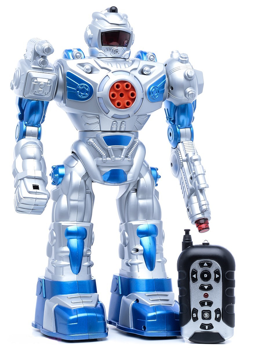 Играем вместе Робот на радиоуправлении, световые и звуковые эффекты, стреляет, ходит, танцует, поет