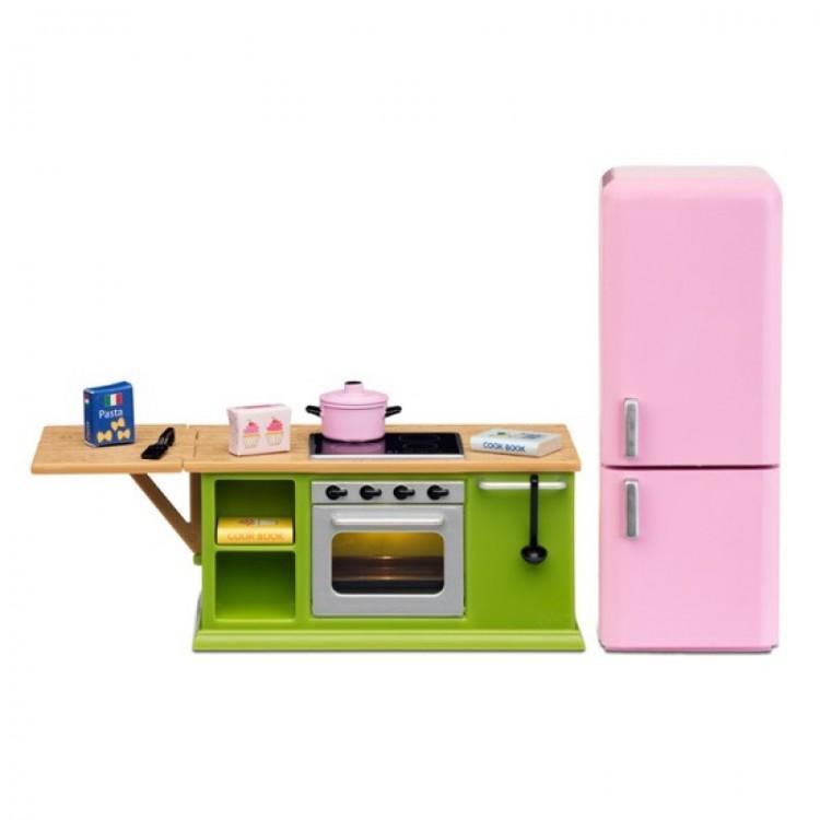 Купить Набор мебели для домика Смоланд - Кухонный набор с холодильником, Lundby