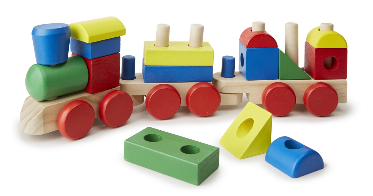 Паровоз-конструктор из серии Классические игрушкиДеревянный конструктор<br>Паровоз-конструктор из серии Классические игрушки<br>
