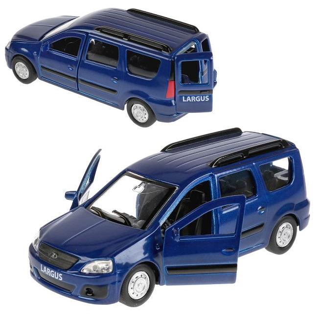 Машина металлическая – Lada Largus, длина 12 см., инерционная, открываются двери, цвет - синий Технопарк