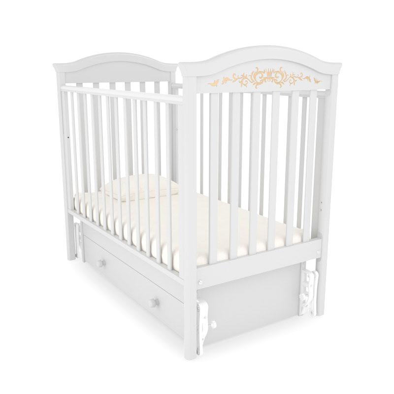 Кровать детская Гандылян К-2002-29м Даниэль Люкс маятник универсальный, белый GANDYLYAN