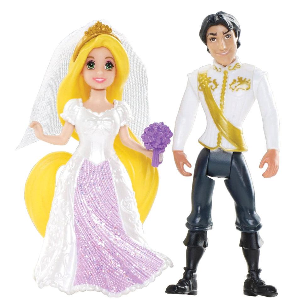Купить Набор мини-кукол - Сказочная свадьба - Рапунцель и Принц Юджин, Mattel