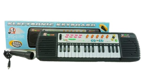 Детский электронный синтезатор с микрофоном Electronic KeyboardСинтезаторы и пианино<br>Детский электронный синтезатор с микрофоном Electronic Keyboard<br>