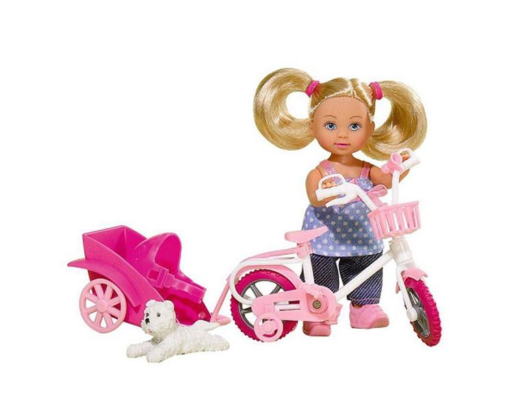 Купить Кукла Еви на велосипеде с собачкой, 12 см, Simba