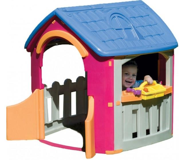 Детский игровой домик-гаражПластиковые домики для дачи<br>Детский игровой домик-гараж<br>